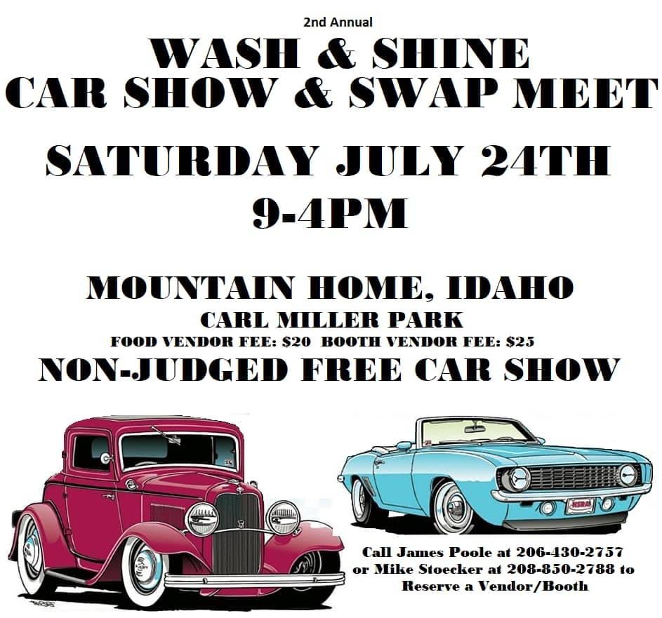 The 2nd Annual Wash & Shine Car Show & Swap Meet